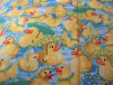 """Rubber Duckie, New Cotton Fabric, 1 Yard & 12"""" Long by 44"""" Wide"""