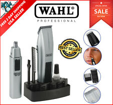 Wahl Beard Trimmer Mustache Clipper Shaver Cordless Battery Hair Razor Men Kit