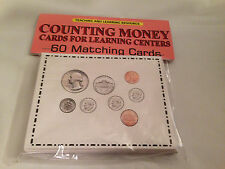 Counting Money - Cards for Learning Center 60 Cards- math money Teaching supplie