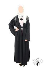 ladies abaya kimono chatiba style farasha dubai jalabeya black