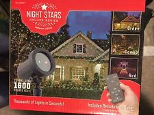 Night Stars Laser Landscape Lighting Delux Series Red & Green Christmas Remote
