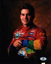 JEFF GORDON SIGNED AUTOGRAPHED 8x10 PHOTO NASCAR RACING LEGEND BECKETT BAS