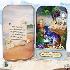 DIY Handcraft Miniature Project Kit Dolls House The Island Adventures Tin Box