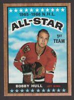 1966-67  TOPPS  # 125  BOBBY HULL  AS  NRMT-MT   INV M924
