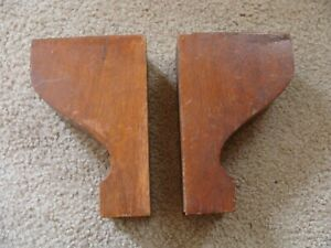 Antique Mission Oak Bracket PAIR Wood Support Architectural Fireplace Furniture