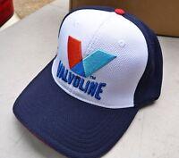 New Valvoline Oil Baseball Cap Hat White Blue Red Design Red Rim
