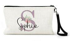 Personalised Make Up Bag,Travel Bag, Pencil Case, Pastel Lilac Initial/Name Gift