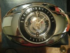 Harley davidson clock made from a chrome air cleaner cover battery operated