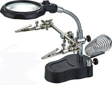 THIRD HAND HOLDER WITH MAGNIFIER AND LIGHT(th5)