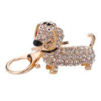 Fashion Dog Dachshund Keychain Bag Charm Pendant Keys Holder Keyring Jewelr I9Y4