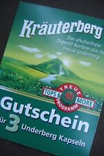 Treuepunkte  Gutschein Bonuspunkte Underberg Kräuterberg