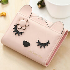 Women PU Leather Cute Coin Bag Fox Shape Wallet Purse