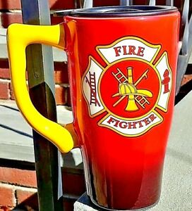 FIREFIGHTER MALTESE CROSS  Ceramic Travel Mug - 14 oz. Ceramic Coffee Mug GIFT