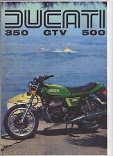 DUCATI 350  500 GTV TWIN  4 page Motorcycle Brochure -  NCS