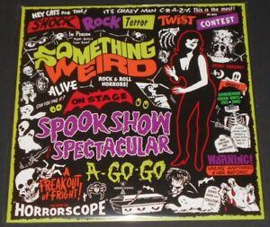 SOMETHING WEIRD spook show spectacular a go-go LP green vinyl + dvd HALLOWEEN