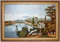Ölbild Heilbronn um 1840_Mayer, ÖLGEMÄLDE HANDGEMALT F:60x90cm