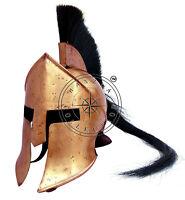 Medieval Roman Greek Viking Armor Helmet~300 Spartan Movie Helmet With Long Hair