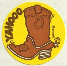 Vintage 80s Matte Trend Scratch & Sniff Sticker - Boot - Mint!!