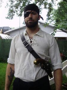 Pirate flintlock gun shoulder single or double holster. Fits most flintlock!