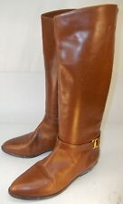 Vntg Etienne Aigner Wos Boots SHELBY US 6 M Brown Leather Casual Riding 1086