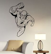 Flash Superhero Wall Decal Vinyl Sticker Comics Hero Art Bedroom Room Decor flh3