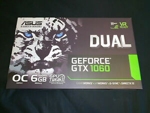 ASUS DUAL GEFORCE GTX 1060 6GB OC Graphics Card VR Ready DX12