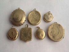 Lavoro Lotto di 7 Antico Vittoriano in ottone Sweetheart MEDAGLIONI