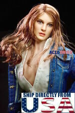 """1/6 American Female Head Sculpt For 12"""" PHICEN Hot Toys VERYCOOL Figure U.S.A."""