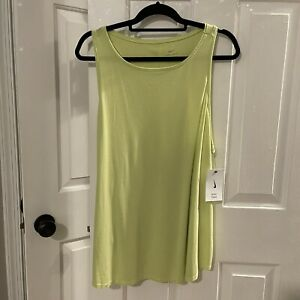 NEW WITH TAGS NIKE WOMENS TRAINING YOGA TANK TOP XXL YELLOW