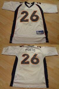 Men's Denver Broncos Clinton Portis M Jersey (White) Reebok Jersey