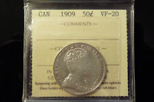 1909 Canada silver fifty 50 cents **ICCS VF-20**