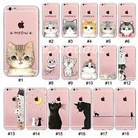 Hot Cute Clear TPU Pet Pattern Printed Case Cover For iPhone SE 5 4 5C 6S Plus