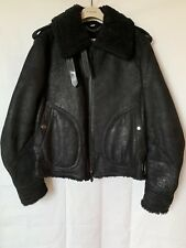 Burberry London Aviator Shearling Sheep Skin Jacket in Black size 50