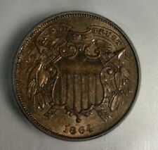 """1864  TWO CENT PIECE  """"SMALL MOTTO""""  ICG MS-61 BN     NICE LOOKING COIN!!"""