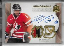 11-12 UD THE CUP HONORABLE NUMBERS AUTOGRAPH PATCH #HN-PS P.K. SUBBAN AUTO 5/5