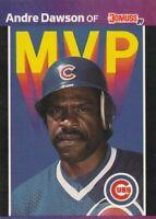 FREE SHIPPING-MINT-1989 Donruss MVP Andre Dawson #BC-8 CUBS PLUS BONUS CARDS
