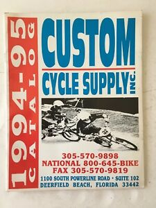 Vintage Original CUSTOM CYCLE SUPPLY INC. BMX Bicycle Catalog 1994-95