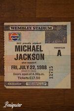 Michael Jackson Bad Tour Wembley Stadium 1988 Ticket Stub