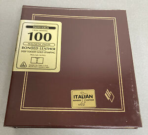 Deluxe Craft Post Bound Photo Album 100 Magnetic Pages Italian Bonded Leather