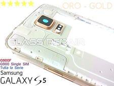 MIDDLE FRAME TELAIO CORNICE ORO - GOLD CENTRALE SAMSUNG GALAXY S5 G900F G900