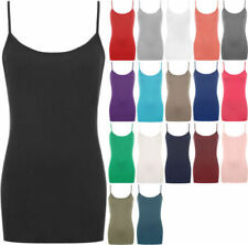 Regular Size Viscose Solid Tank, Cami Tops & Blouses for Women