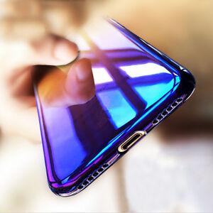 "COVER CUSTODIA per iPhone 6 6s 7 8 Plus RIGIDA ULTRA SOTTILE ""BLUE RAY"""
