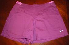 Nike Magenta Fit Dry Tennis Skort Skirt Front Pockets Zip Back Size 6 New Womens