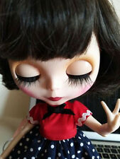 """12""""Neo Blythe Doll Brown Hair from Factory Joint Body Matte Face Nude Doll 1003"""