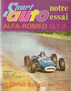 SPORT AUTO 46 1965 ALFA ROMEO GIULIA GTA GP USA GP FRANCE GP ALBI COUPE DE PARIS