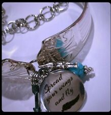 """Hand-made Spoon-Style Bracelet """"Spread your wings and fly"""