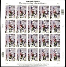 LOT OF 20 US STAMP SHEETS SC# B2 HEROES OF 9/11 FV $180.00 MNH PV $ 144.00