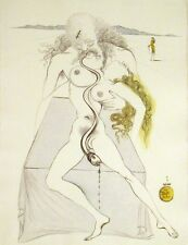 Salvador Dali, Original Engraving from Illustre Casanova suite nudes serpent OBO