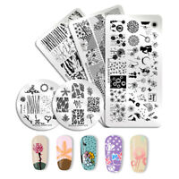 NICOLE DIARY Nail Stamping Plates  Flower  Image Templates Tips