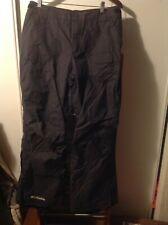 Columbia Women's Black/Grey pattern Snowboard Snow Pants Ski size M Medium